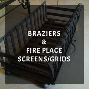 wrought iron fire pieces