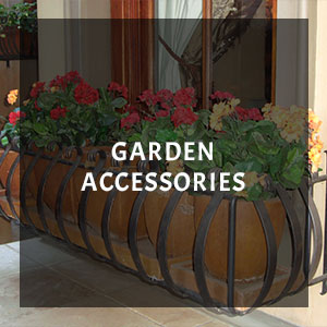 Wrought iron plant accessory
